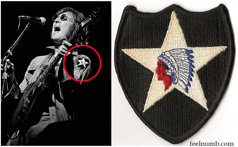 John Lennon 2nd Infantry Patch U.S. Army Jacket Shirt