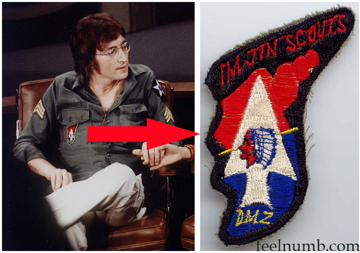 John Lennon US Army Jacket Imjin Scouts DMZ Patch