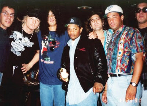 N.W.A. Guns N Roses Eazy-E Dj Yella Slash Matt Sorum