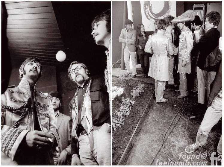The Beatles March 30, 1967 Sgt. Pepper Cover Photo Shoot