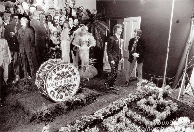 The Beatles Sgt Pepper Album Cover Photo Shoot Set Chelsea Manor Studios