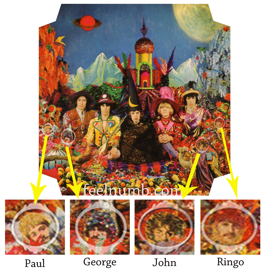 The Rolling Stones Their Satanic Majesties Request The Beatles