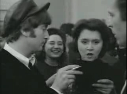 John Lennon Tits The Beatles A Hard Days Night Movie