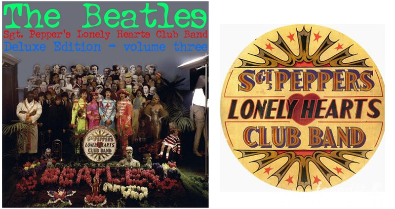 Sgt, Pepper Lonely Hearts Club Band Alternate Drumhead The Beatles Album Cover