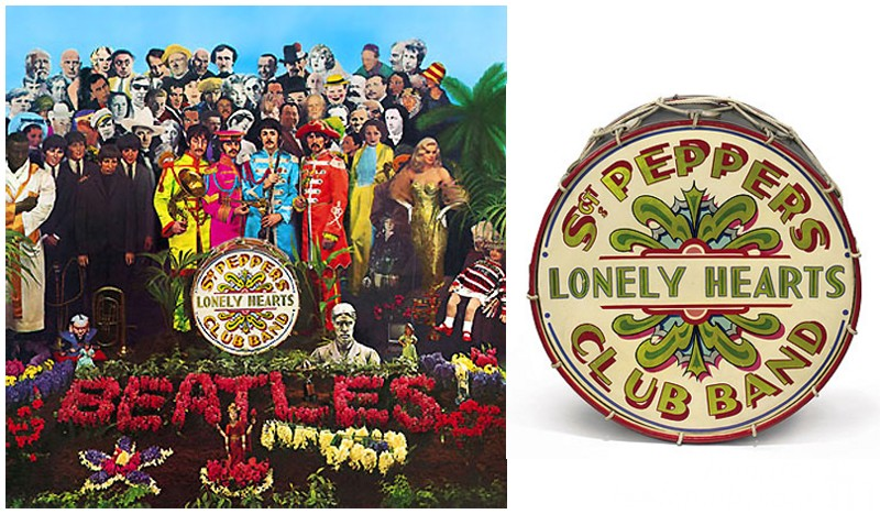 sgt. pepper lonely hearts club band the beatles drum album cover
