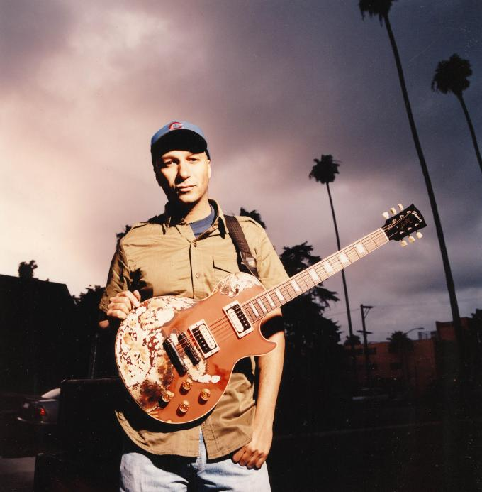 Tom Morello Les Paul Budweiser Guitar Burn