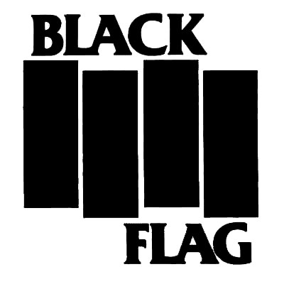 black flag logo dave grohl guitar