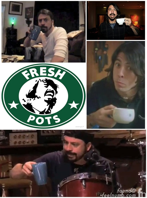 Dave Grohl Coffee Addiction Caffeine