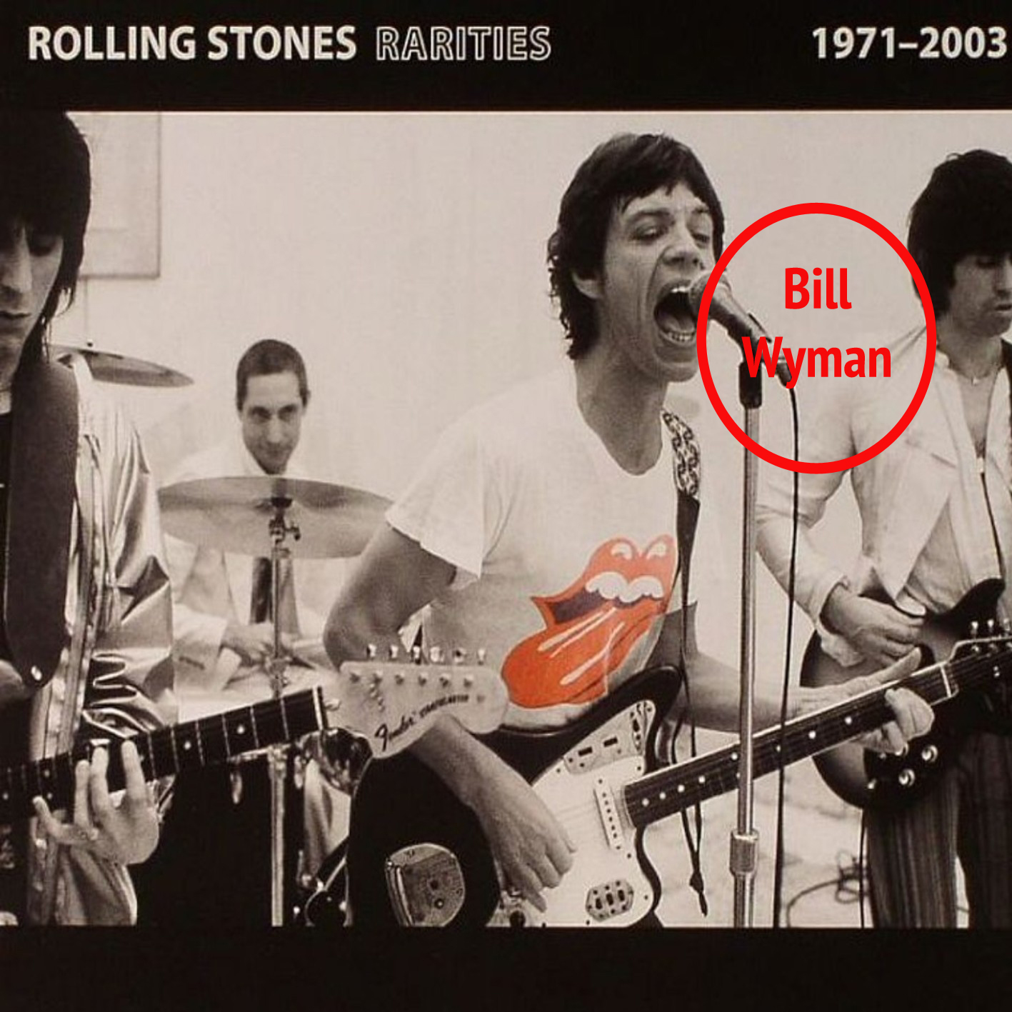 The Rolling Stones Bill Wyman Removed Photoshop Rarities Album Cover