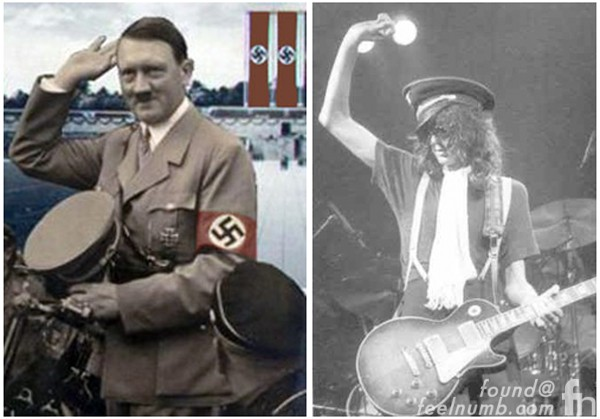 Jimmy Page SS Nazi Hat Boots Hitler Germany