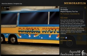The Beatles Magical Mystery Tour Bus Hard Rock Cafe