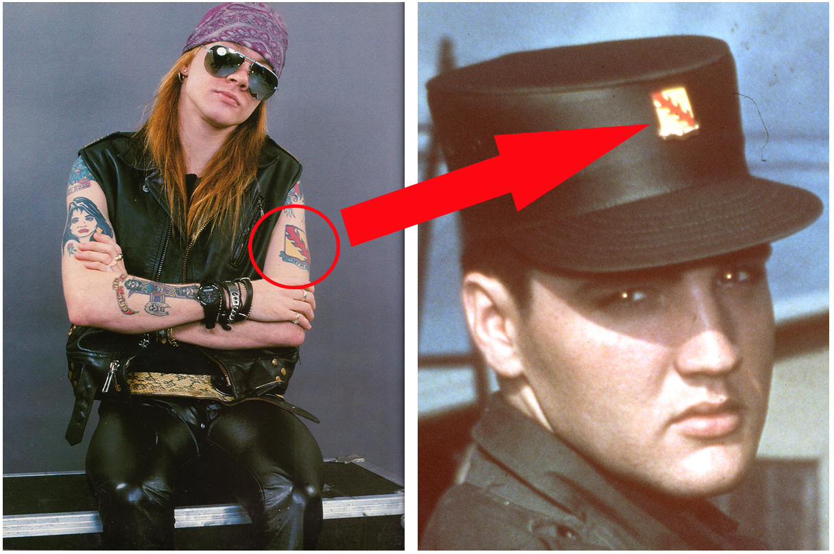 Elvis Presley Axl Rose Victory Or Death Tattoo