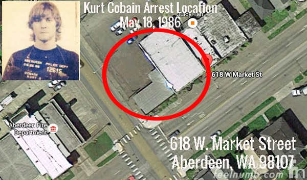 Kurt Cobain Arrest Aberdeen Washington 1986 Mugshot