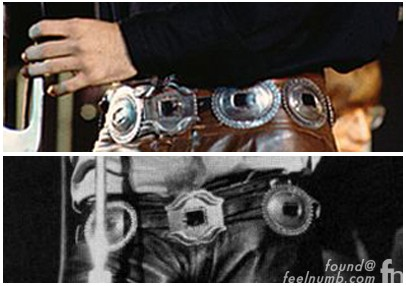 Jim Morrison Silver Indian Concho Belt