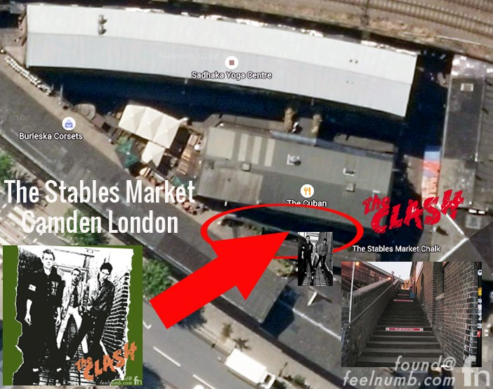 The Clash Debut Album Cover Photo Location Camden London Stables Market