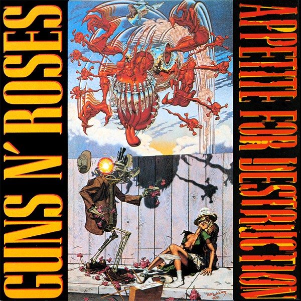 Appetite For Destruction Album Cover Guns N' Roses Album Banned