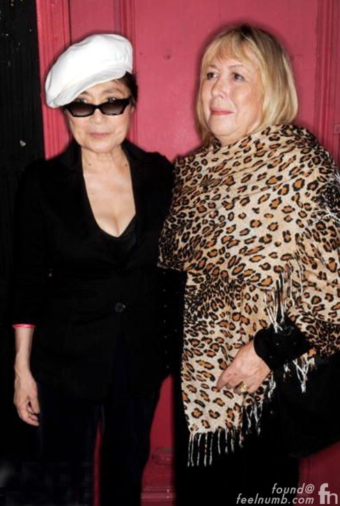 Yoko Ono Cynthia Powell Lennon John Wives Together