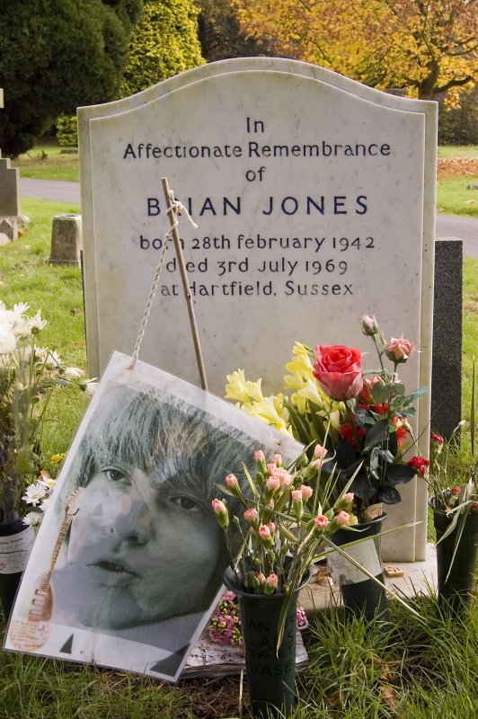 Brian Jones Was Buried In A Silver And Bronze Casket Paid For By Bob