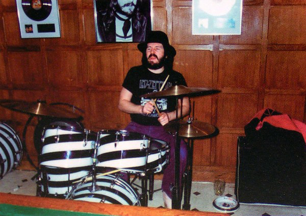 John Bonham Black and White Vistalite Drum Kit Swirl Auction 2008