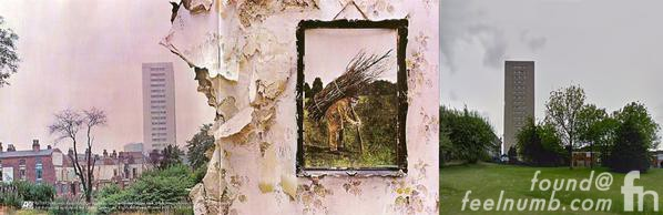 Led Zeppelin IV Album Cover Salisbury Tower Location