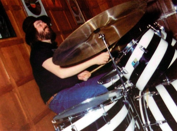 John Bonham Drum Kit Auction Ludwig Vistalite  Black & White Swirl