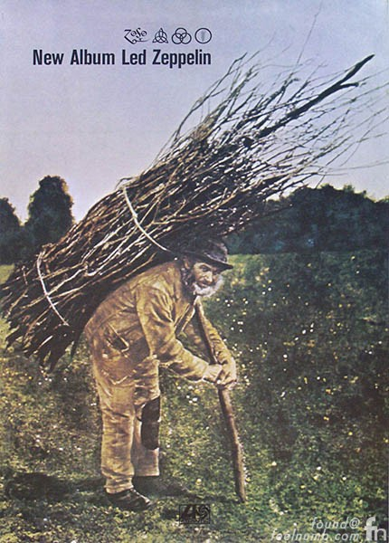 Led Zeppelin IV Painting Old Man Carrying Sticks On Back