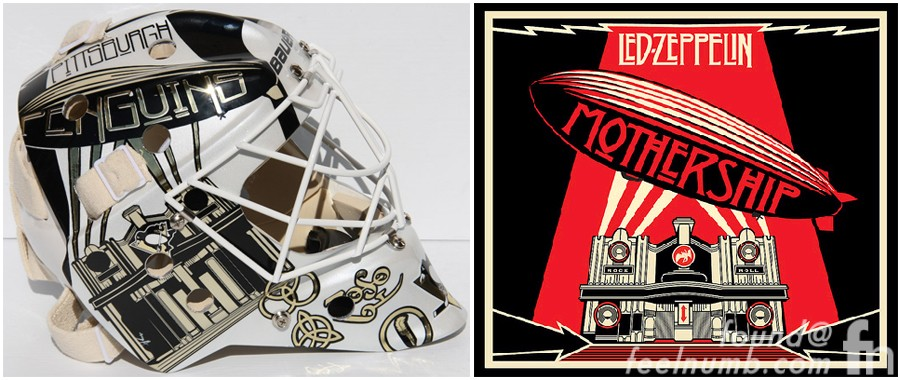 Led Zeppelin Hockey Mask Brent Johnson NHL