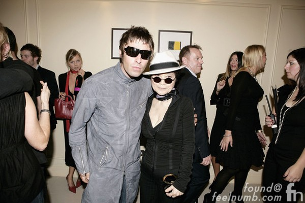 Liam Gallagher Oasis Yoko Ono The Beatles John Lennon Meeting Oasis