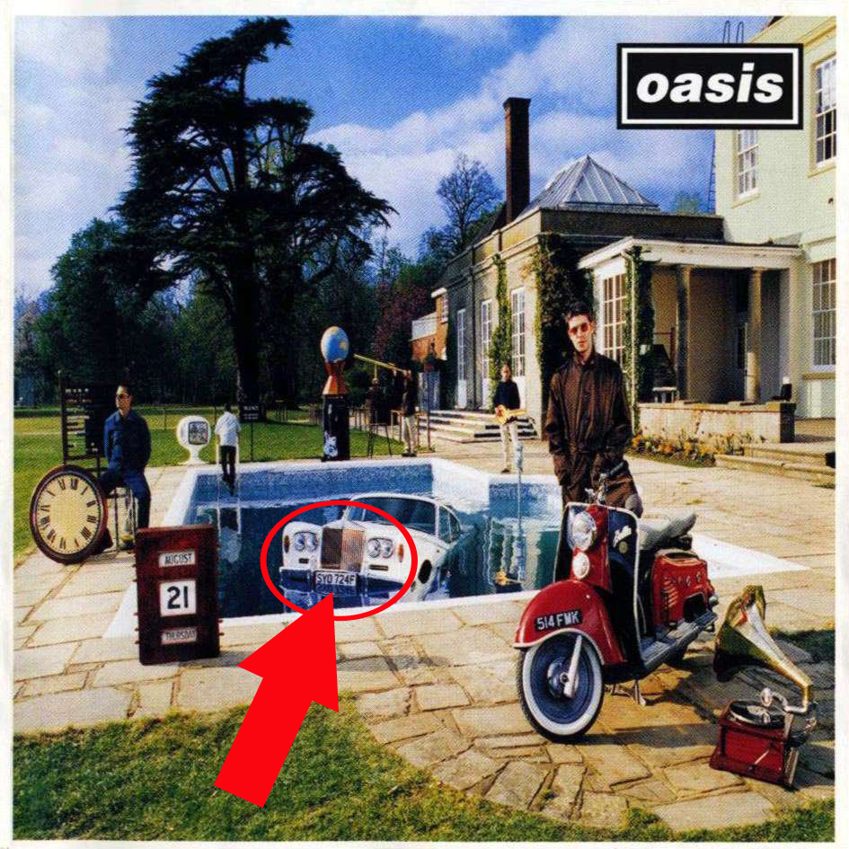 Oasis Be Here Now The Beatles Abbey Road SYO724F License Plate