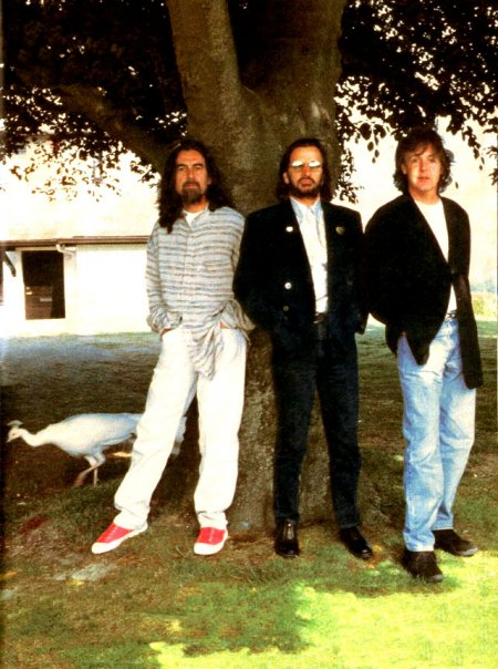 The Beatles Free As A Bird Photo Shoot White Peacock John Lennon Photo