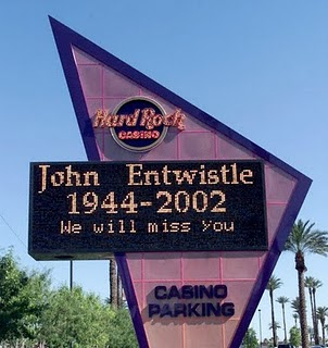 John Entwhistle The Hard Rock Hotel Las Vegas The Who
