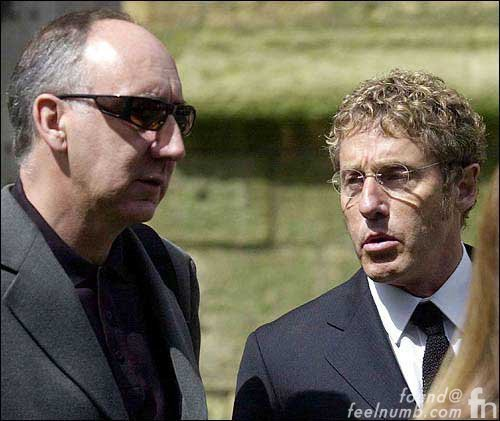 Pete Townshend Roger Daltrey The Who John Entwistle Funeral