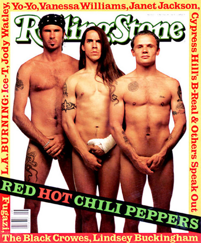 Red Hot Chili Peppers Rolling Stone Magazine Cover 1992