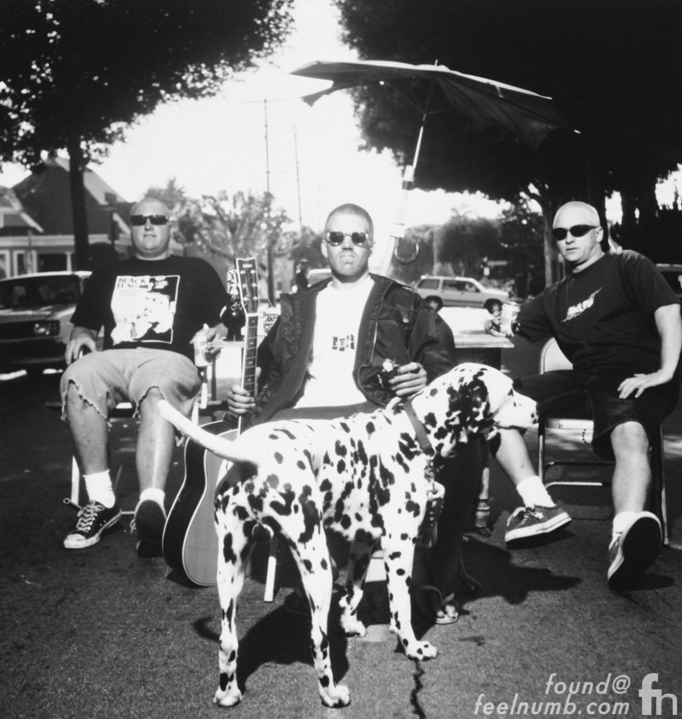 Sublime Band Photo with Lou Dog Bradley Nowell Mascot Dalmation