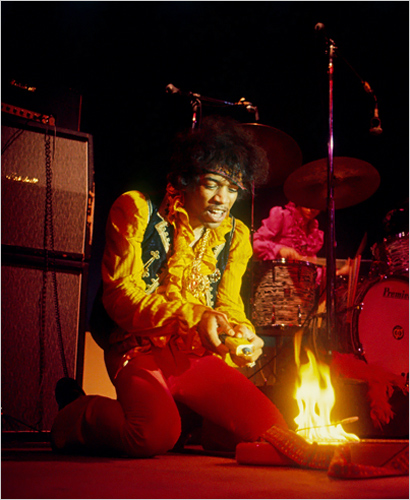 Jimi Hendrix Burning The Monterey Fender Strat 1967 Pop Festival