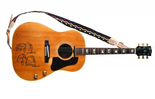 John Lennon Gibson J-160E Guitar Give Peace A Chance