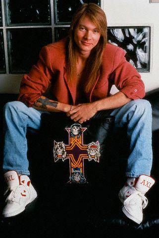 Axl Rose Guns N' Roses Custom Converse Weapons