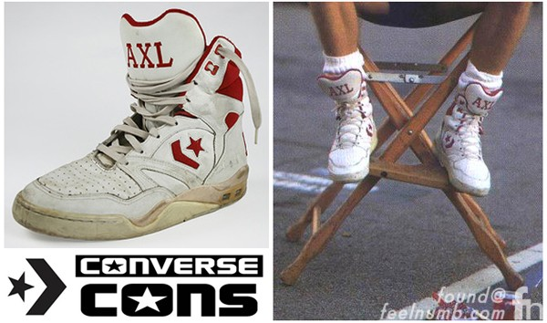 Axl Rose Guns N' Roses Converse Cons Tennis Shoes