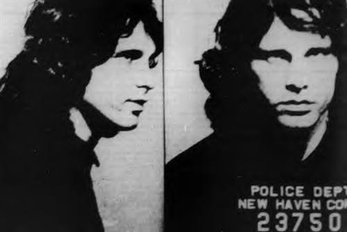 December 9, 1967 New Haven Jim Morrison Mugshot Arrest The Doors