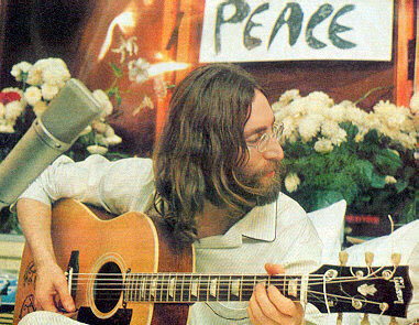 John Lennon Give Peace A Chance Gibson J-160E