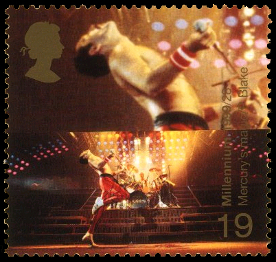 Freddie Mercury Stamp Roger Taylor Living Person