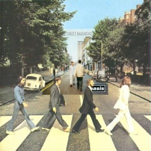 Oasis (What's the Story) Morning Glory? The Beatles Abbey Road Album Cover Mash Up Combined