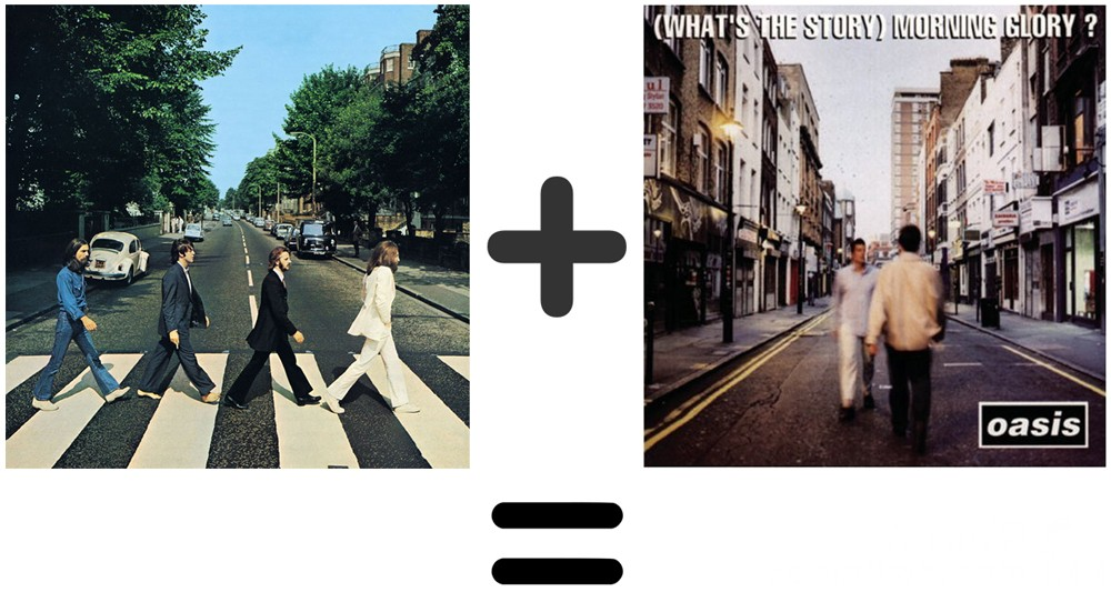 The Beatles Abbey Road Oasis Whats The Story Morning Glory Album Cover Mash Up