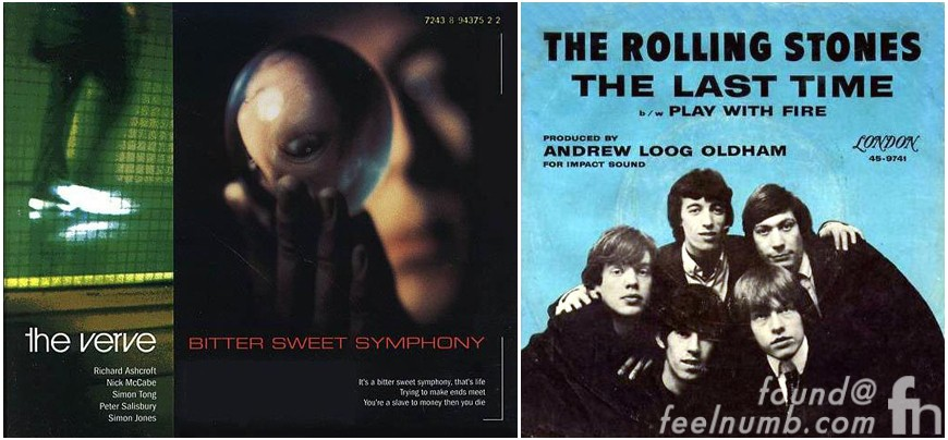 The Verve The Rolling Stones Bittersweet Symphony The Last Time Lawsuit