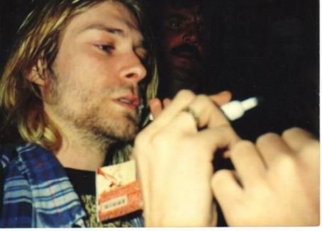 Kurt Cobain Right-Handed Signing Autograph