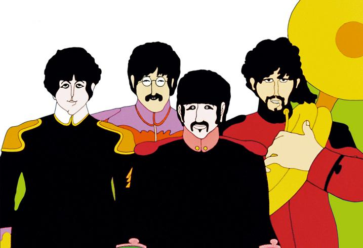 The Beatles Yellow Submarine Characters Strawberry Fields Forever