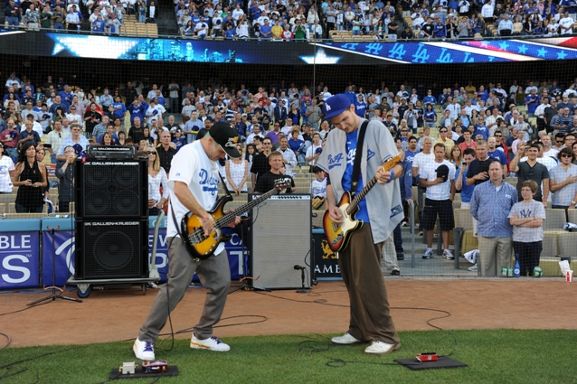 Flea Josh Klinghoffer Red Hot Chili Peppers Dodgers