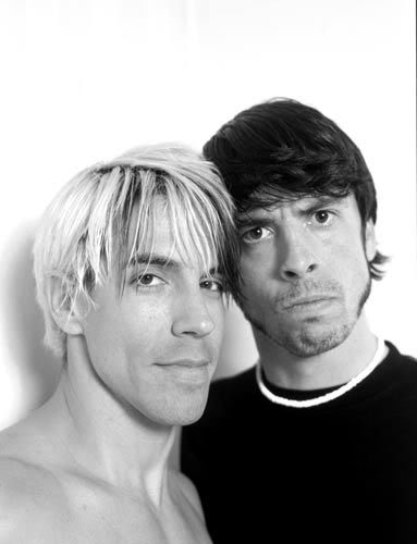 Dave Grohl Anthony Kiedis Foo Fighters Red Hot Chili Peppers Close Photos