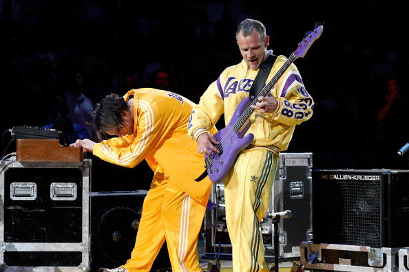 Flea Josh Klinhoffer Red Hot Chili Peppers National Anthem Los Angeles Lakers