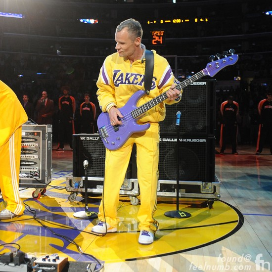 Flea Los Angeles Lakers National Anthem Mamba Day 24